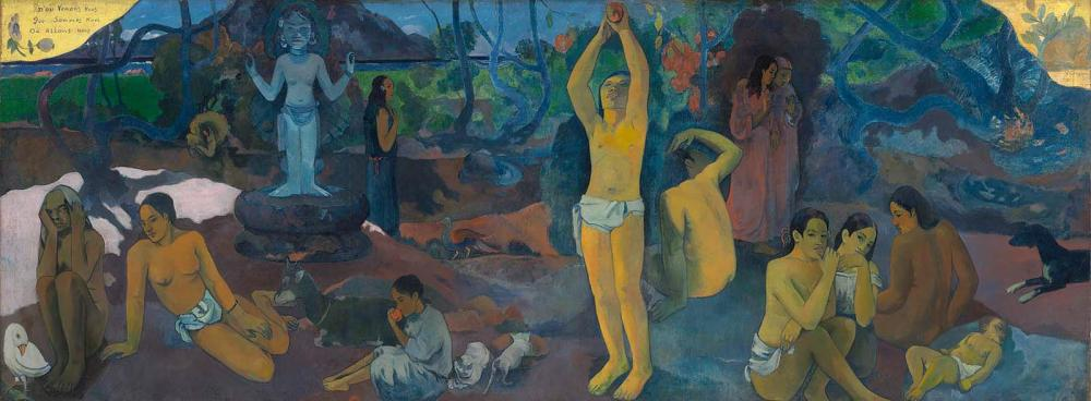 Paul Gauguin, Where Do We Come From? What Are We? Where Are We Going? 1897–1898. Collection of the Museum of Fine Arts, Boston.