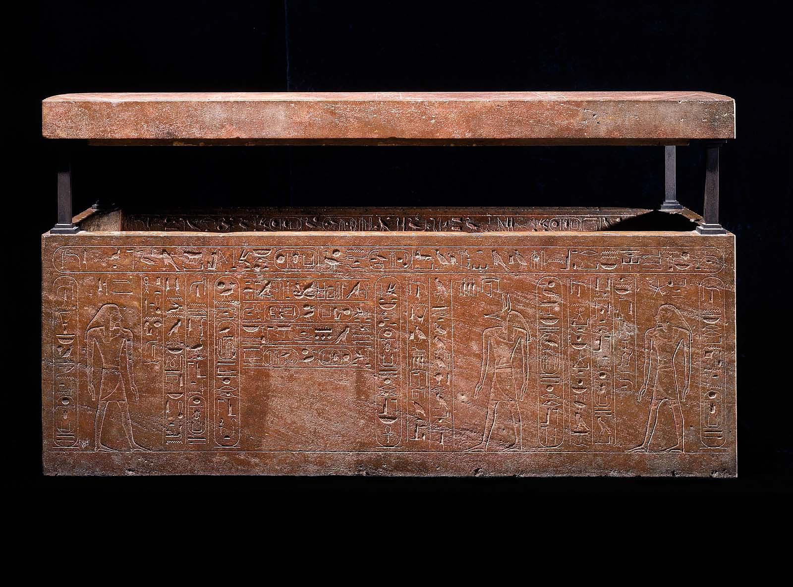 Sarcophagus of Queen Hatshepsut, recut for her father, Thutmose I (box)